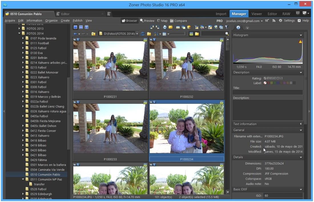 Zoner Photo Studio – Módulo Manager